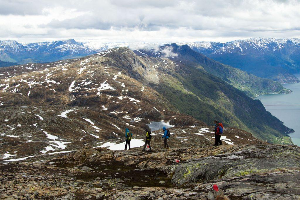 mountain view norwegian hike