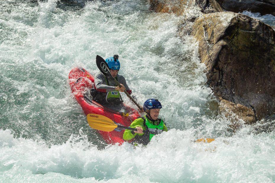 river tandem kayaking
