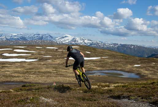 mtb in voss mountains norway