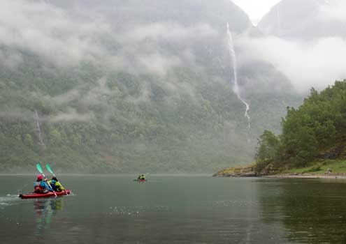 experience nature by kayak in norway