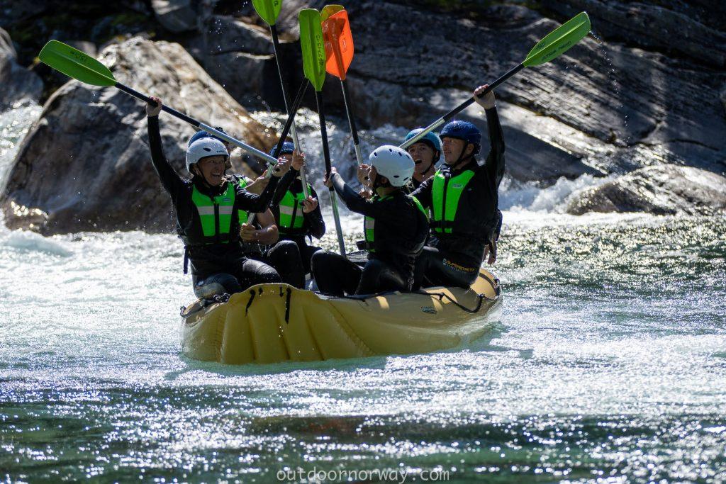 rafting group in norway, adventure travels