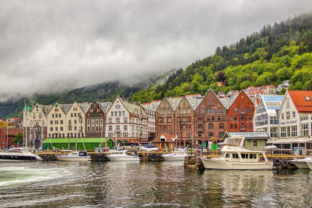 Bergen harbour and bryggen